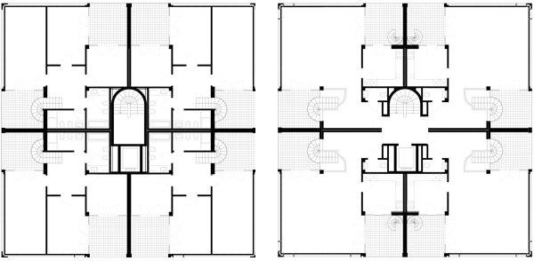 Quinto e sesto piano Residenza Leonardo